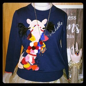 Kate spade Oh hello Camel sweater
